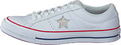 One Star - Ox White/gym Red/white