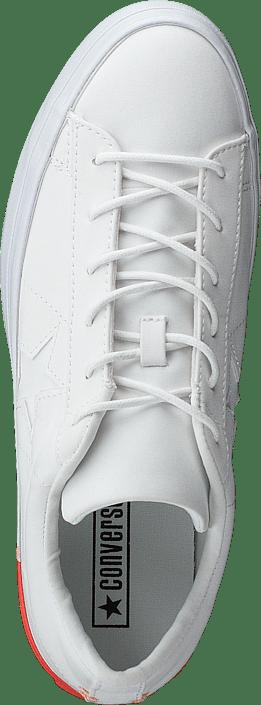 One Star Platform White/bright Poppy/white