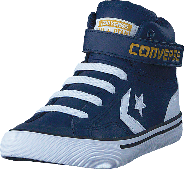 23ee02d02a49 Buy Converse Pro Blaze Strap Stretch Navy white mineral Yellow blue ...
