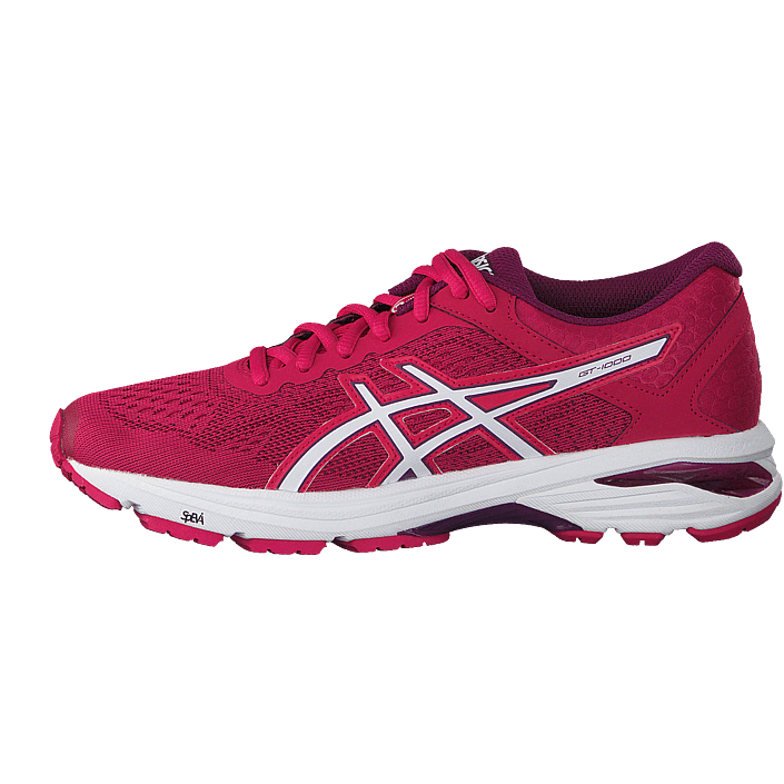 acheter asics gt 1000 6 pink white prune rose chaussures online. Black Bedroom Furniture Sets. Home Design Ideas