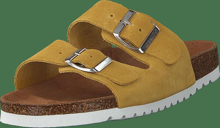 Julia Leather Sandal Cream Gold