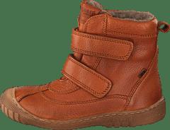 Bisgaard TEX Boots High Velcro Cognac