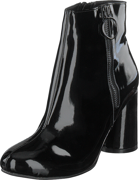 Bianco - Round Heel Ankle Boot Jas18 Black