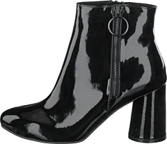 Round Heel Ankle Boot Jas18 Black