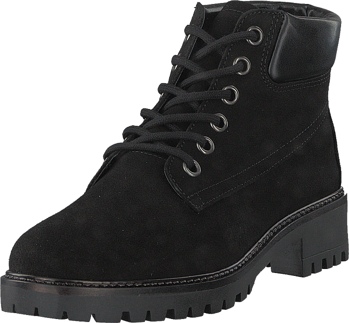 Bianco - Low Cut Laced Up Boot Jas18 Black