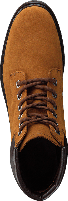 Low Cut Laced Up Boot Jas18 Cognac