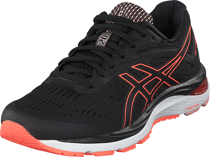 Buy Asics Gel-cumulus 20 Black flash Coral black Shoes Online ... 108ba5ebe1d