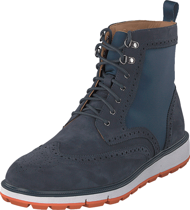 Swims - Motion Wing Tip Boot Navy/orange