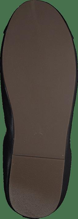 Leather Ballerina Black