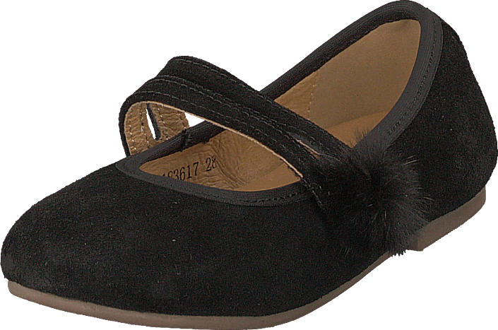 Petit by Sofie Schnoor - Suede Ballerina W. Fur Black