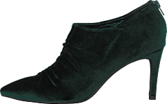 Shoe Stiletto Velvet Dark Green