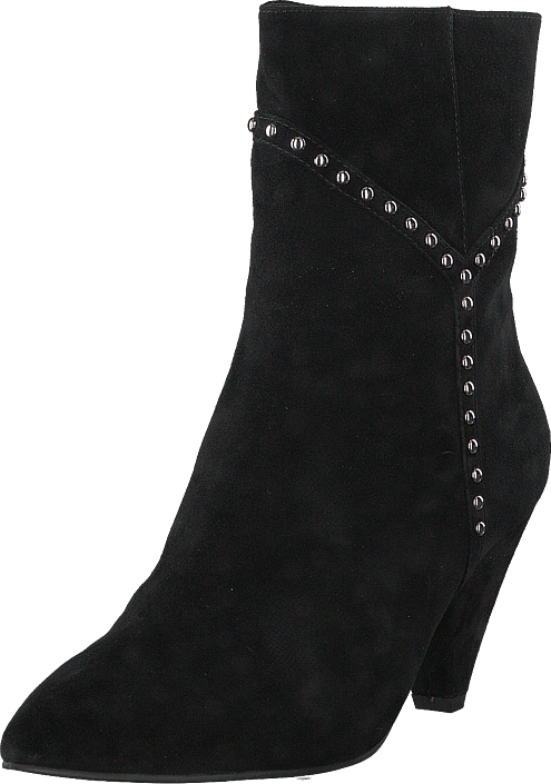 Sofie Schnoor - Boot With Y Studs Silver Black