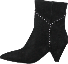 Boot With Y Studs Silver Black