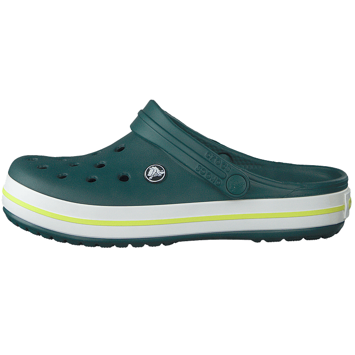 7d006a135 Buy Crocs Crocband Evergreen tennis Ball Green turquoise Shoes Online