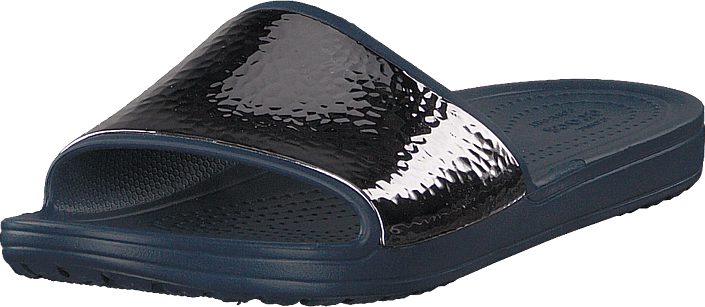 Crocs - Sloane Hammered Met Slide W Navy/navy