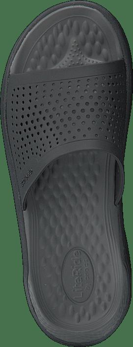 Kjøp Crocs Literide Slide Blacksmoke sko Online | FOOTWAY.no