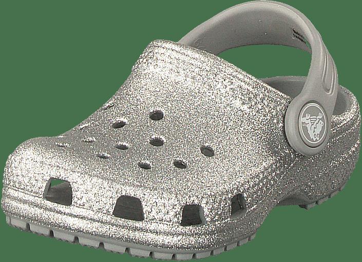 nowy przyjeżdża kup najlepiej najlepsze trampki Classic Glitter Clog Kids Silver