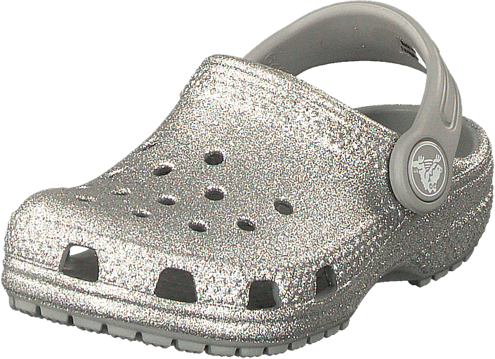 Crocs - Classic Glitter Clog Kids Silver
