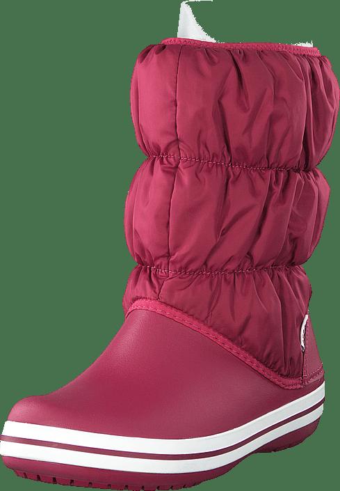 Winter Puff Boot Women Pomegranate/white
