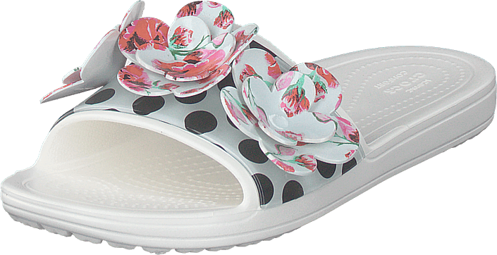 Crocs - Sloane Timeless Roses Slide White