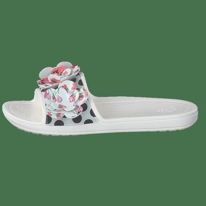 Sloane Crocs Online Slide Tøfler Timeless Sko Sandaler Kjøp Roses White Hvite Og H5x8wKBdq