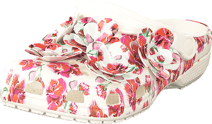 Crocs - Classic Timeless Clash Roses Floral/white