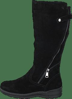 72.757 57 Black Large Svart, Grå Støvler af Gabor Damer