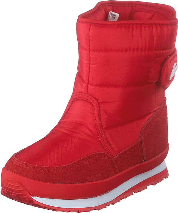 Rd Nylon Suede Solid Kids Red