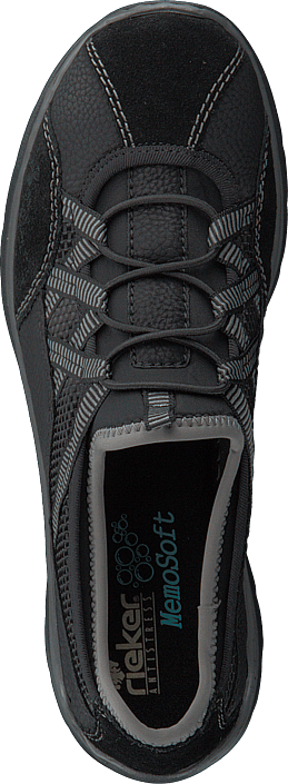 00 Sko Online L3251 Kjøp Schwarz Rieker Grå Sneakers p8U6q1x