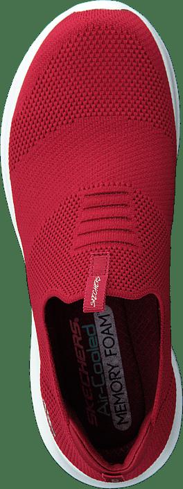 Kjøp Skechers Womens Ultra Flex Red Sko Online
