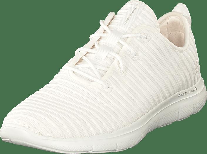Sko 0 Online Kjøp Appeal Womens Wht Hvite Sneakers 2 Skechers Flex X11Uw8q