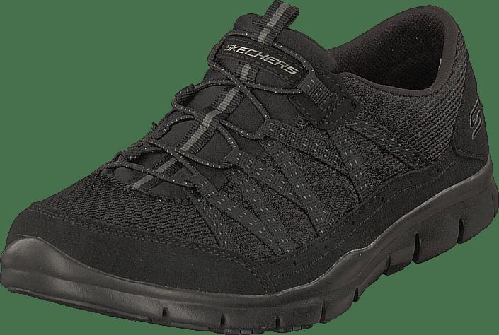 Skechers Womens Gratis Cloud Black Svarta promenadskor med