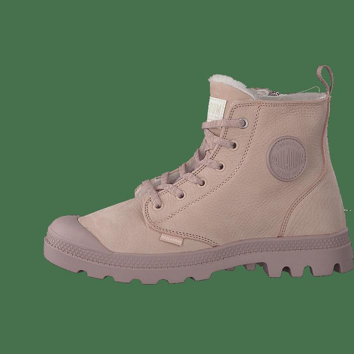 96705c86b30a86 Acheter Palladium Pampa Hi Wool Zip Rose Dust Marrons Chaussures Online    FOOTWAY.fr
