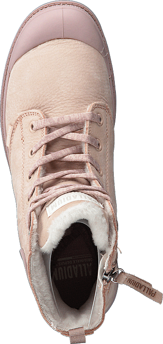 6e86ed3b6a2099 Acheter Palladium Pampa Hi Wool Zip Rose Dust Marrons Chaussures ...