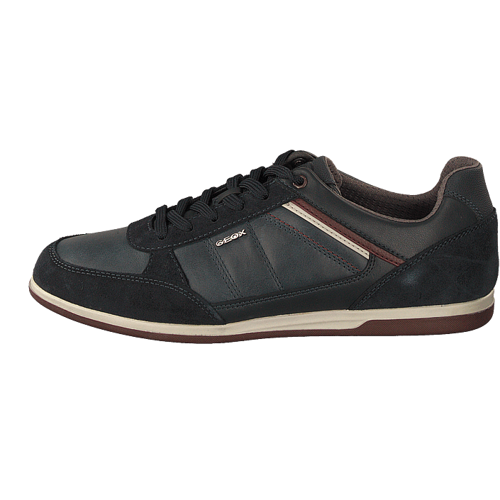 designer fashion website for discount where can i buy U Renan B Waxed Lea Suede Navy