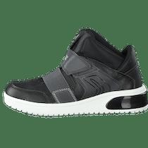 Buy Geox J Xled B.a Geobuck Text Black grey Shoes Online