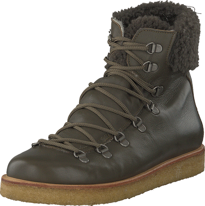 Angulus - Boot With Laces And D-rings Olive
