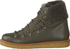 Boot With Laces And D-rings Olive