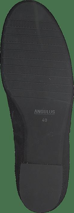 Block Heel Boot With Zipper Black/black Glitter