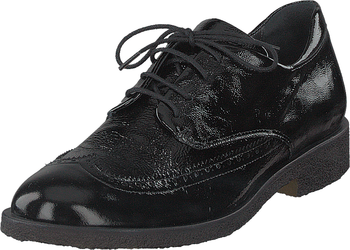 Angulus - Brogues W. Cap-toe And Laces Black Patent