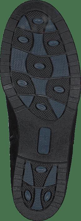 Caprice - Haline Black Nubuc Comb