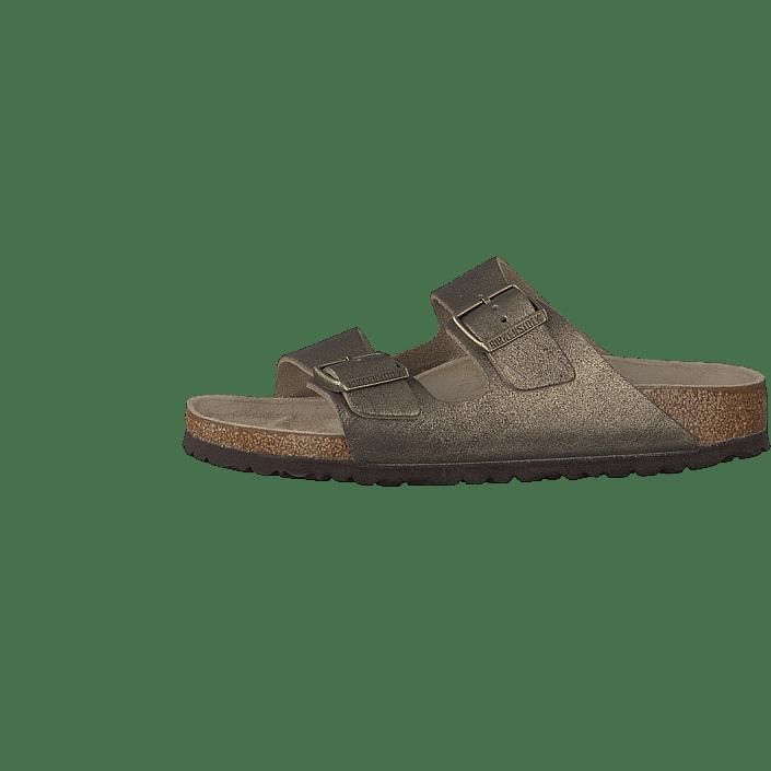 Koop Birkenstock Arizona Slim Leather Washed Metallic