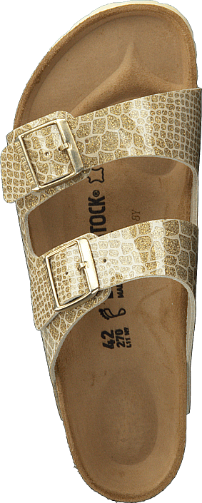Birkenstock - Arizona Regular Birko-flor Magic Snake Gold