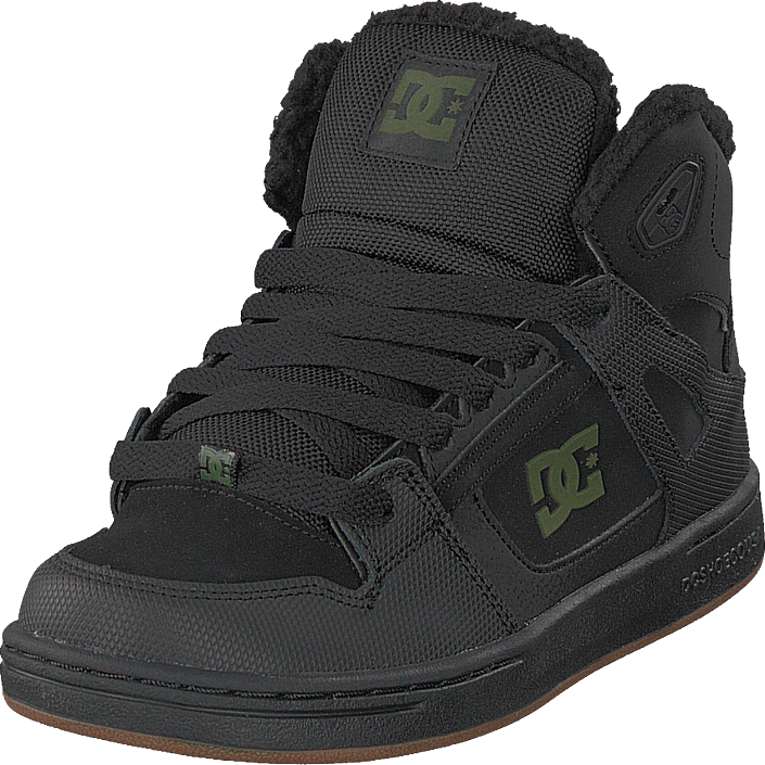 DC Shoes - Pure High-top Wnt Black/black/green