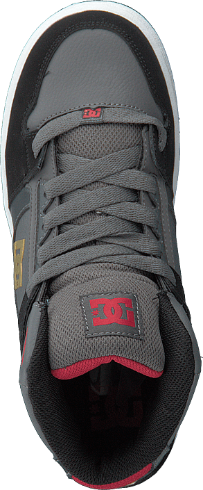 DC Shoes - Pure High-top Grey/black/red