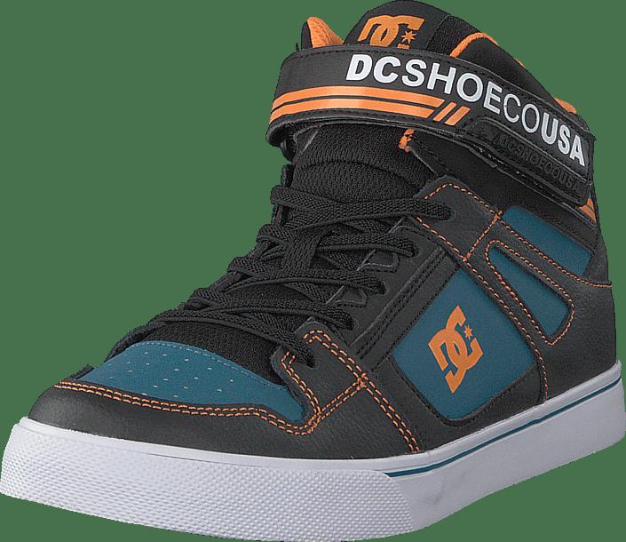DC Shoes - Pure High-top Ev Black/orange/blue