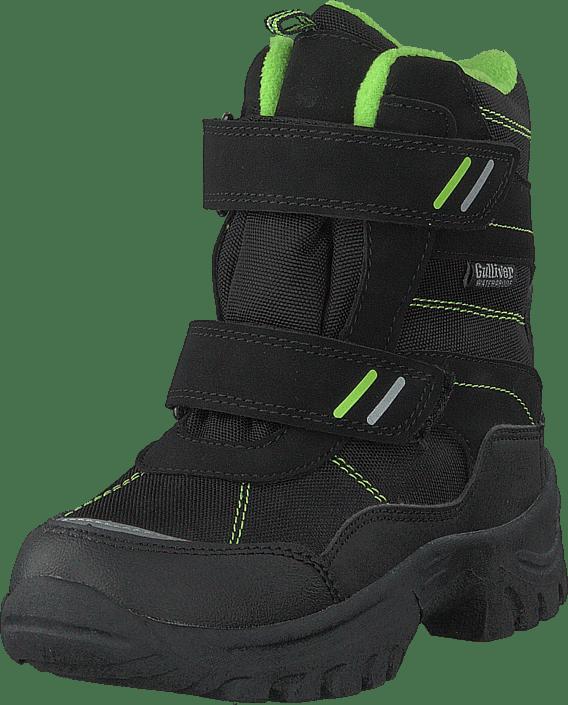 430-9113 Waterproof Warm Lined Black/lime