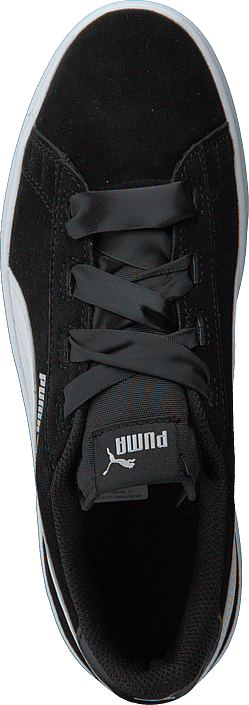 Puma Smash V2 Ribbon Jr Black/white