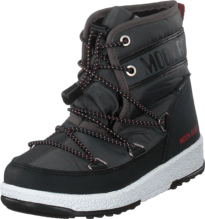 Moon Boot - W.e Boot Jr Boy Mid Wp Black/castle Rock