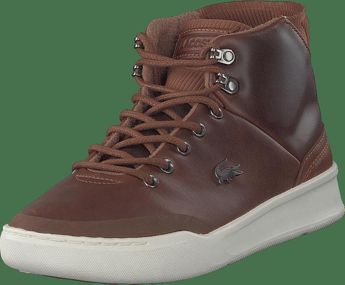 64dab28cb Buy Lacoste Explorateur Classic 318 1 Dk Tan brw purple Shoes Online ...
